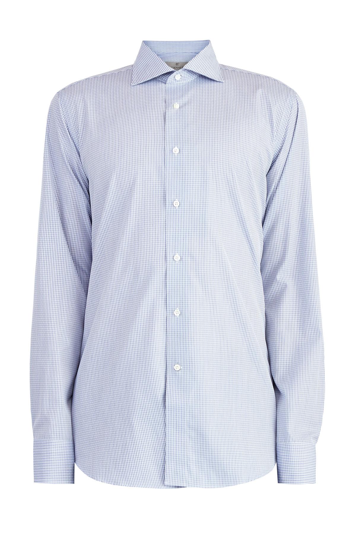 Классическая рубашка из хлопка Impeccabile с тканым микро-принтом
