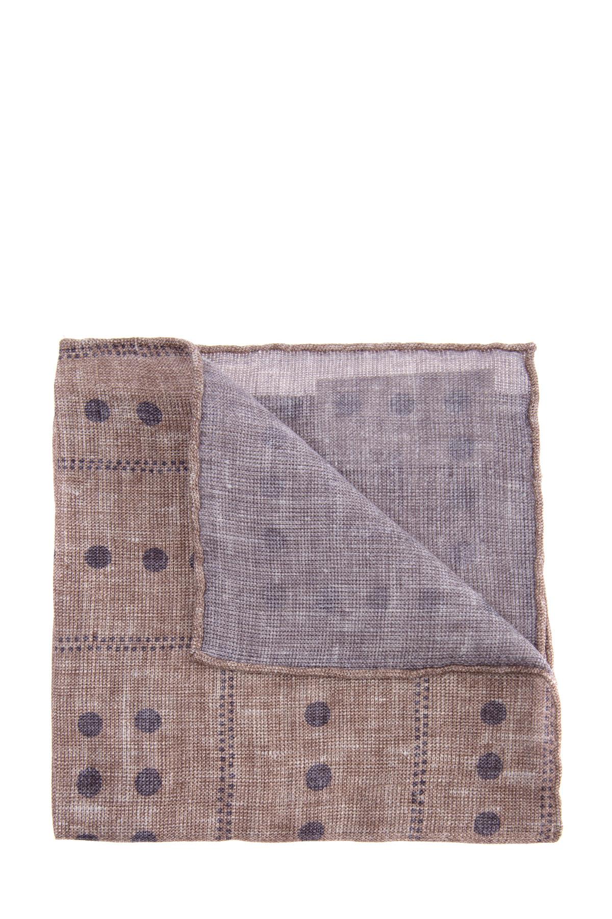 Льняной платок-паше с принтом в точку