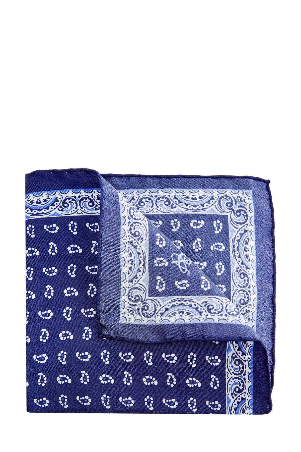 Купить Яркий платок-паше с набивным принтом пейсли, CANALI, Италия, шелк 100%