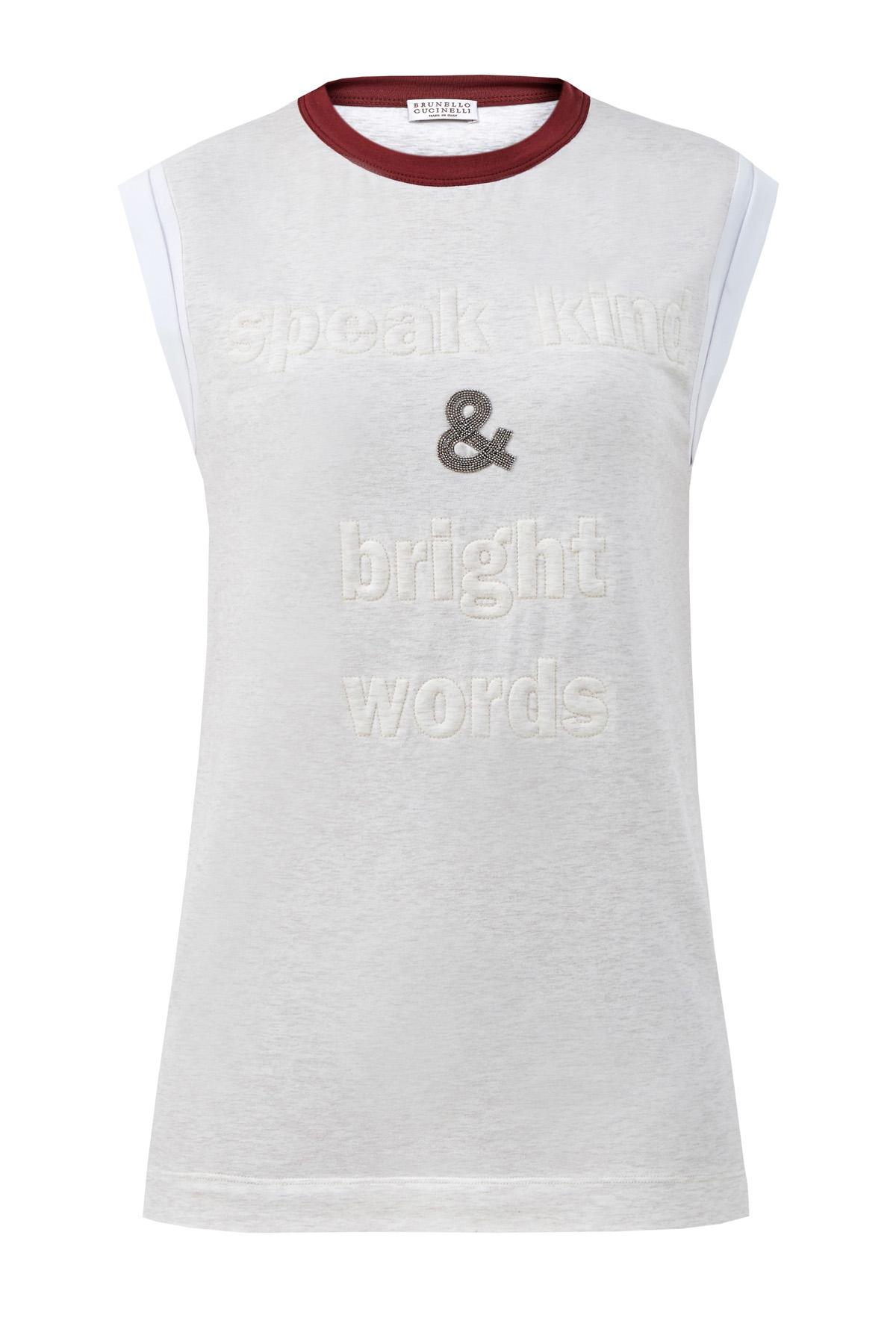 женская футболка без рукавов brunello cucinelli