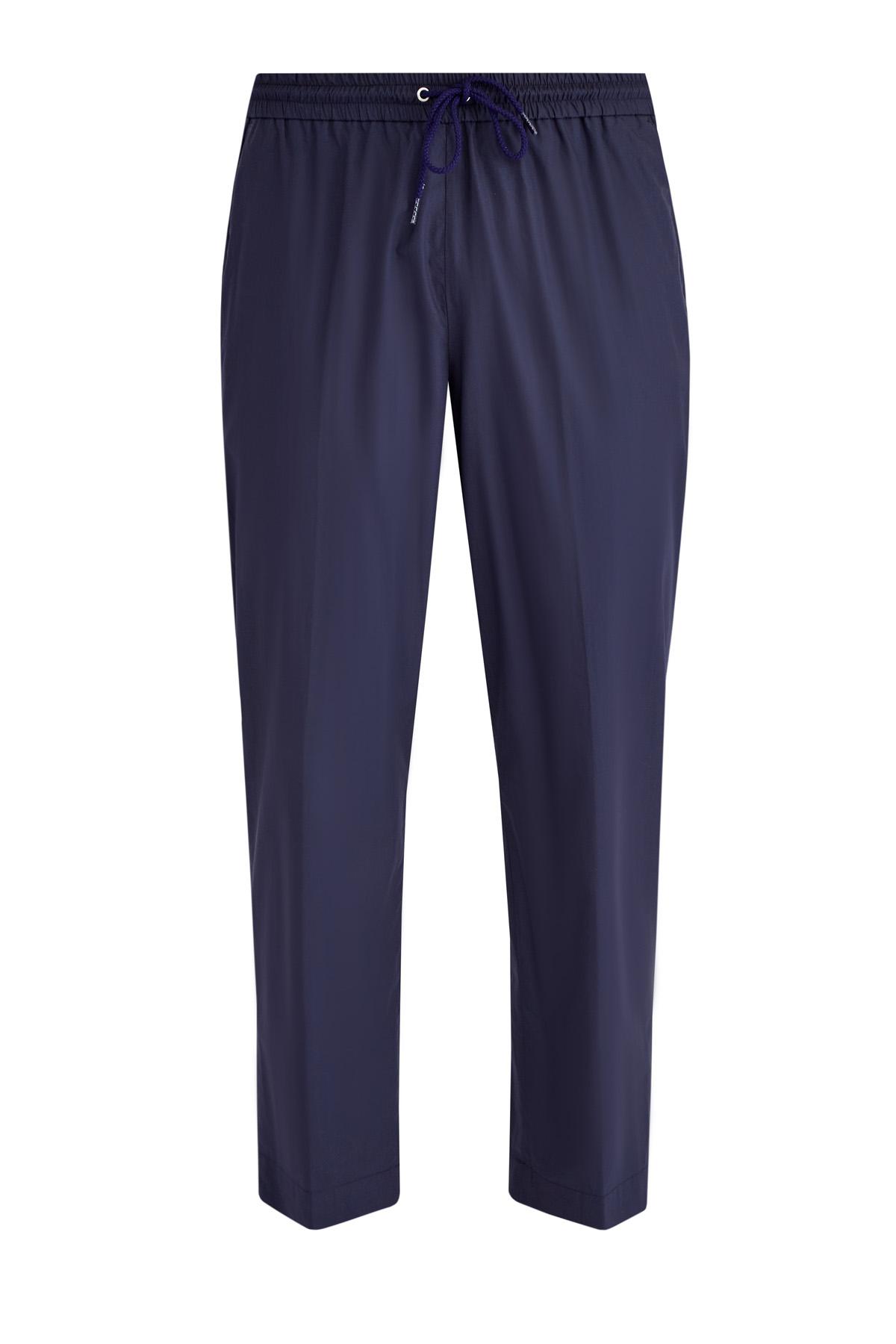 Купить Укороченные брюки из тонкого хлопка на эластичном поясе с кулиской, KENZO, Тунис, хлопок 100%
