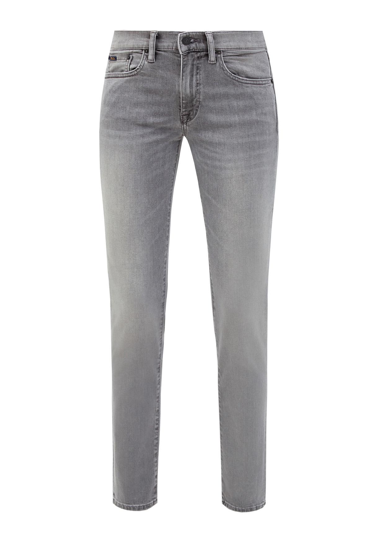 Выбеленные джинсы-skinny на низкой посадке