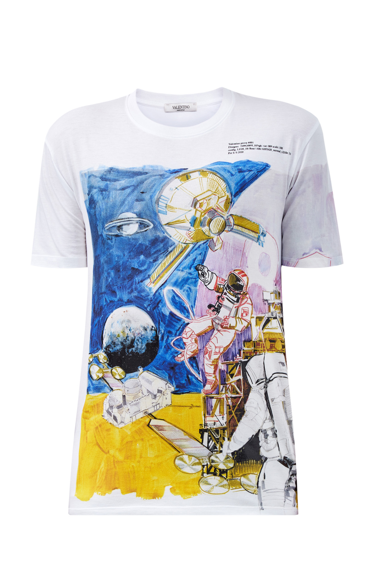 Хлопковая футболка с принтом Spaceland фото
