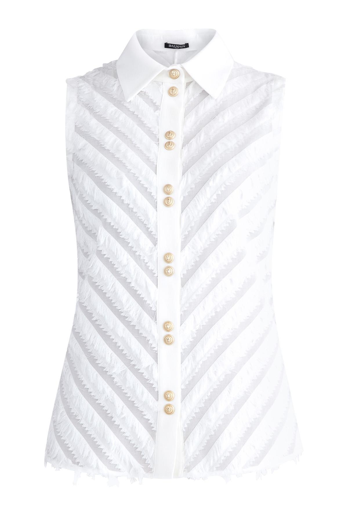 Рубашка, BALMAIN, Италия, хлопок 100%  - купить со скидкой