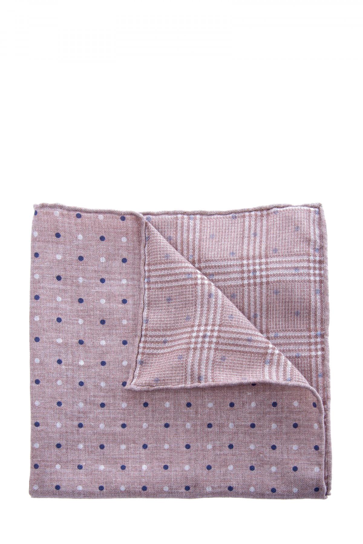Купить Двусторонний платок-паше в бежево-розовой гамме с традиционными узорами, BRUNELLO CUCINELLI, Италия, хлопок 80%, шерсть 20%
