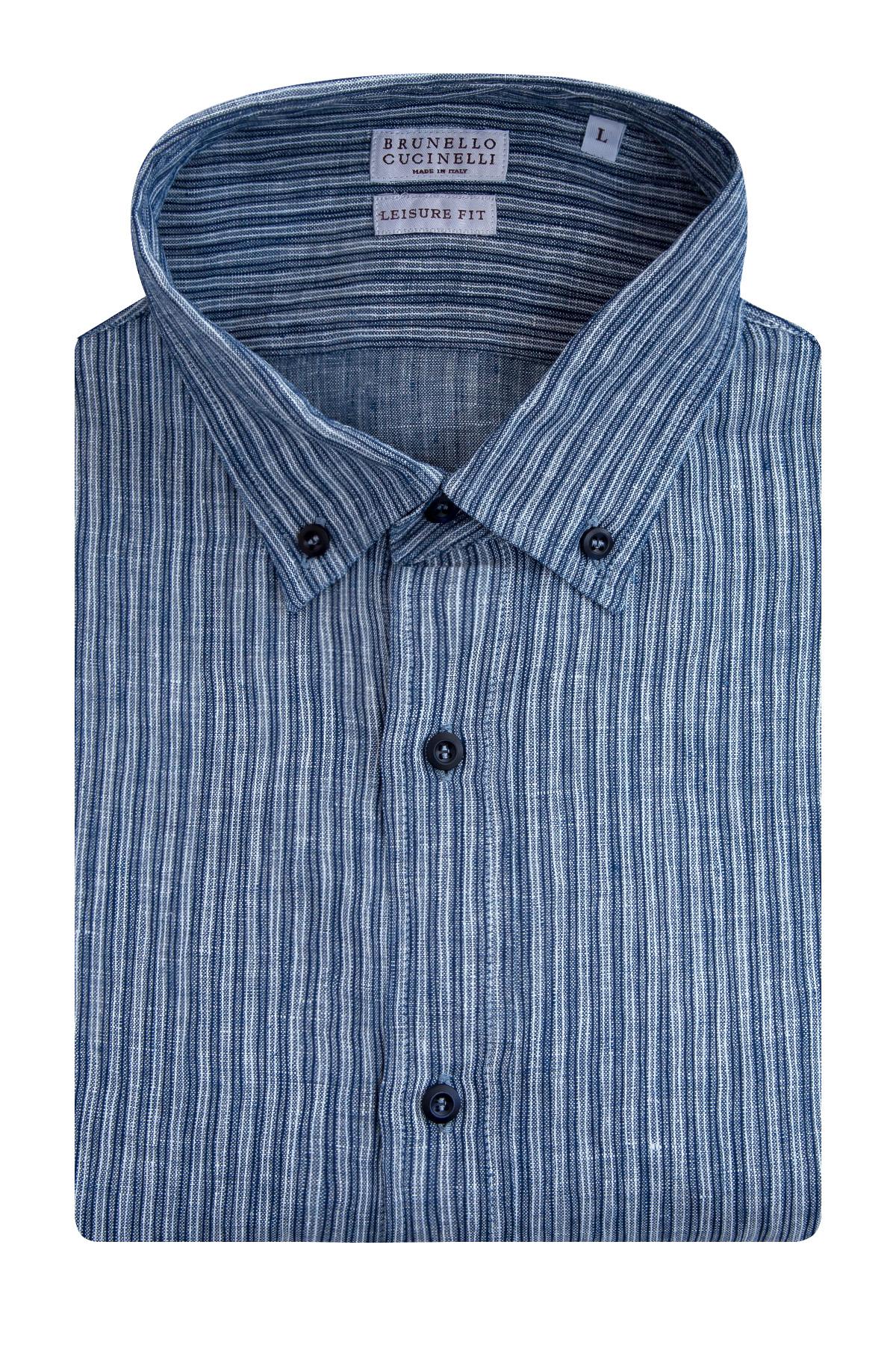 Рубашка, BRUNELLO CUCINELLI, Италия, лен 100%  - купить со скидкой