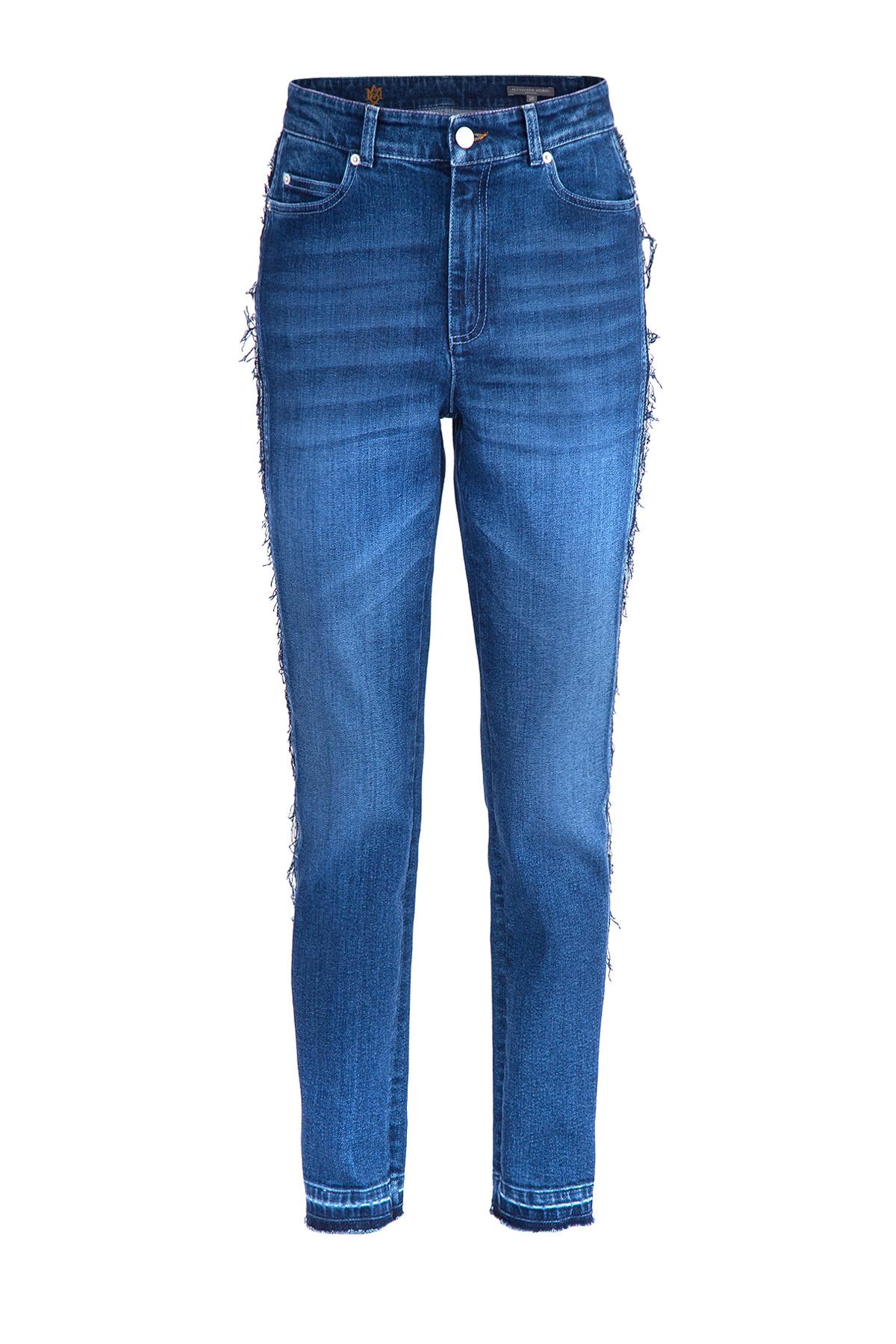 женские джинсы с высокой посадкой alexander mcqueen