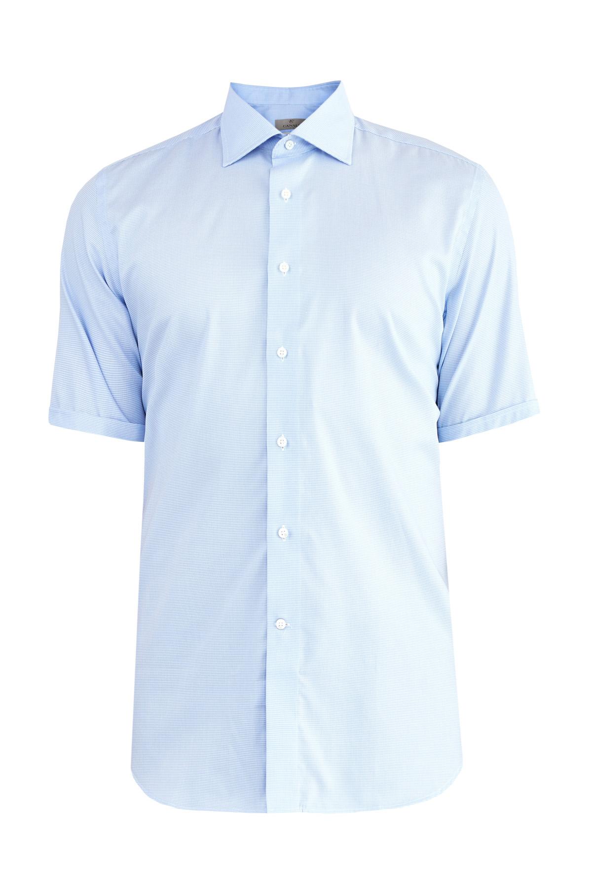 мужская рубашка с коротким рукавом canali