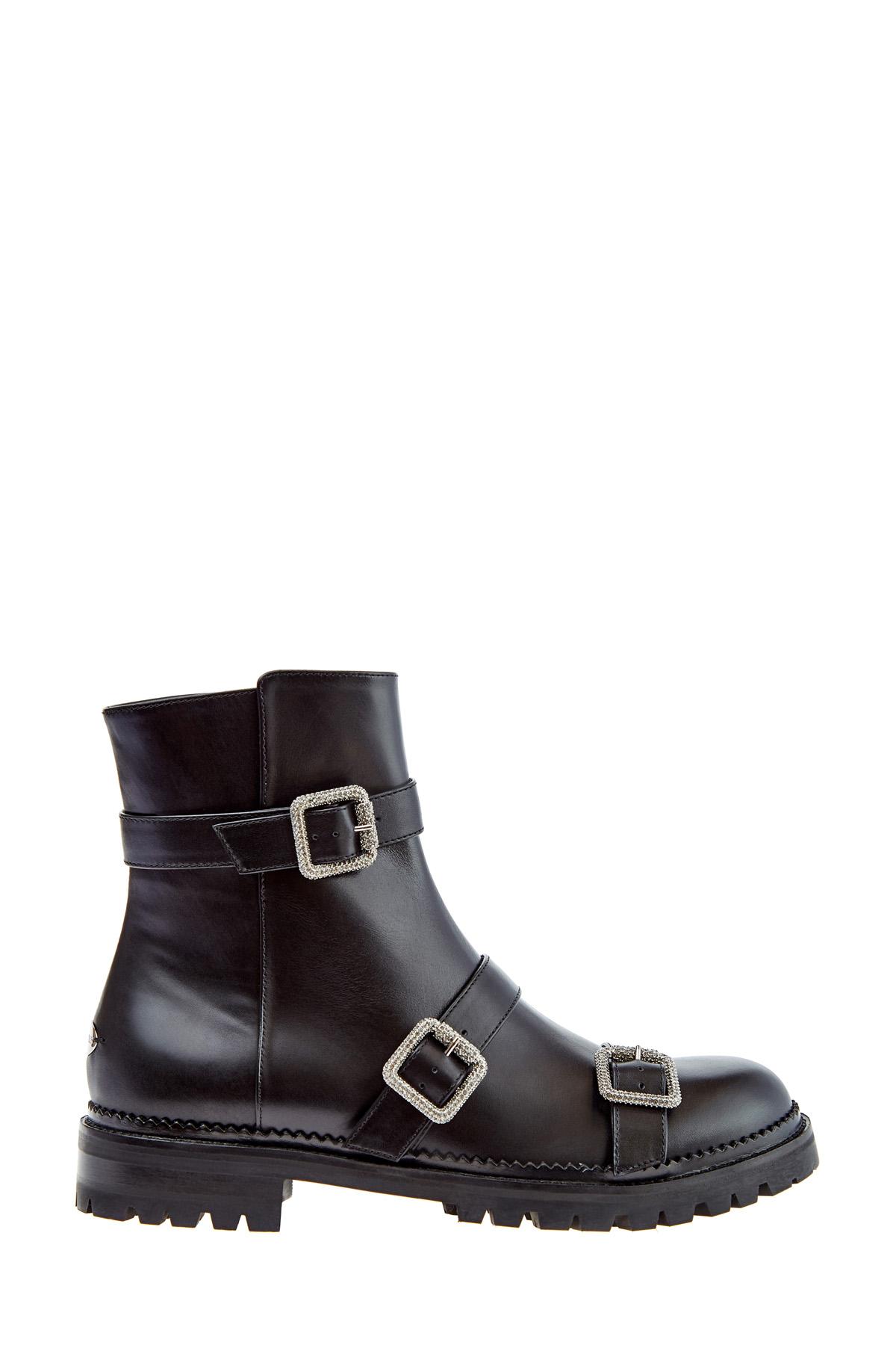 Высокие ботинки Hank с отделкой кристаллами и массивной подошвой