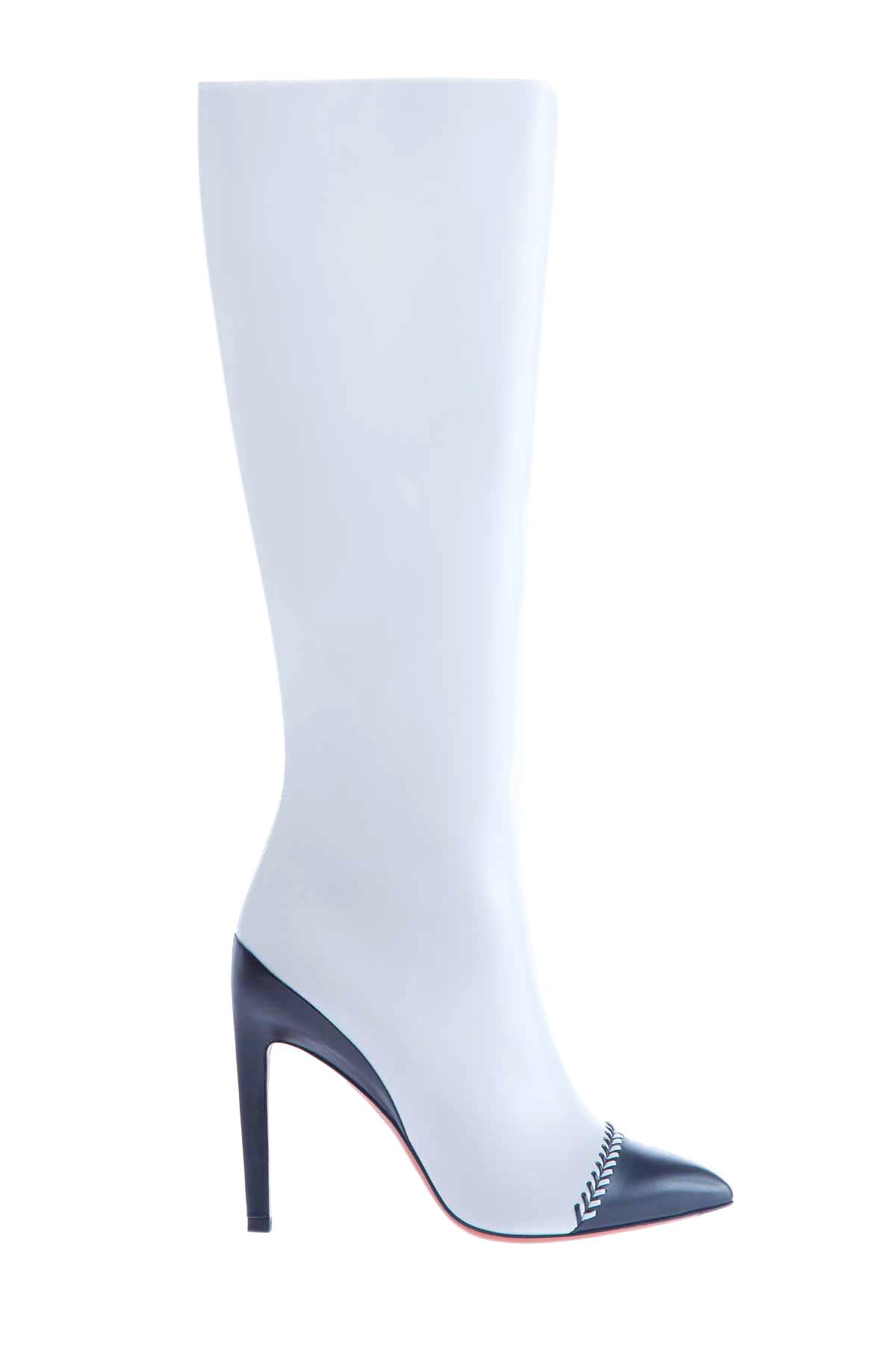 женские сапоги на каблуке santoni