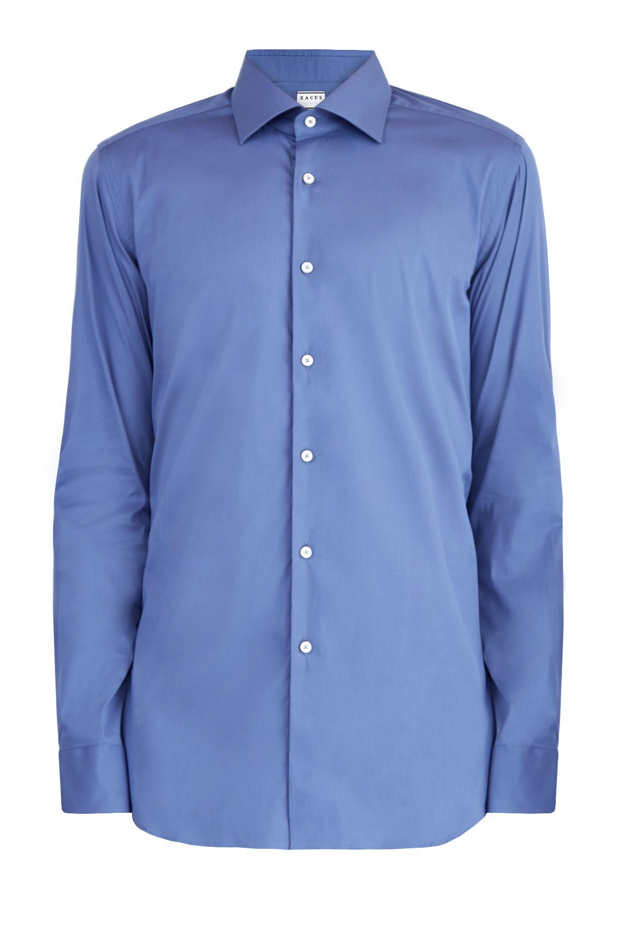 Однотонная рубашка из эластичного поплина силуэта Tailor Fit фото