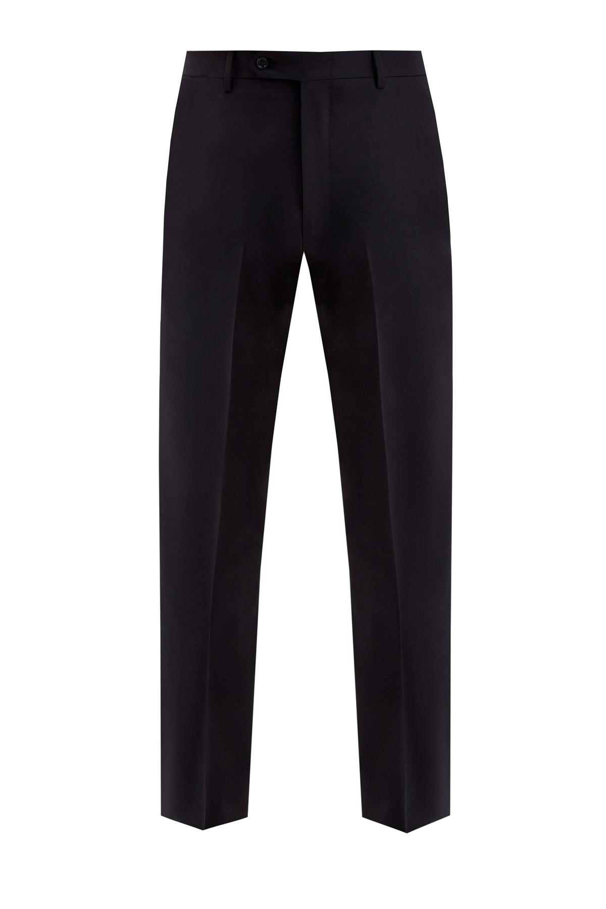 Классические черные брюки из шерстяной ткани