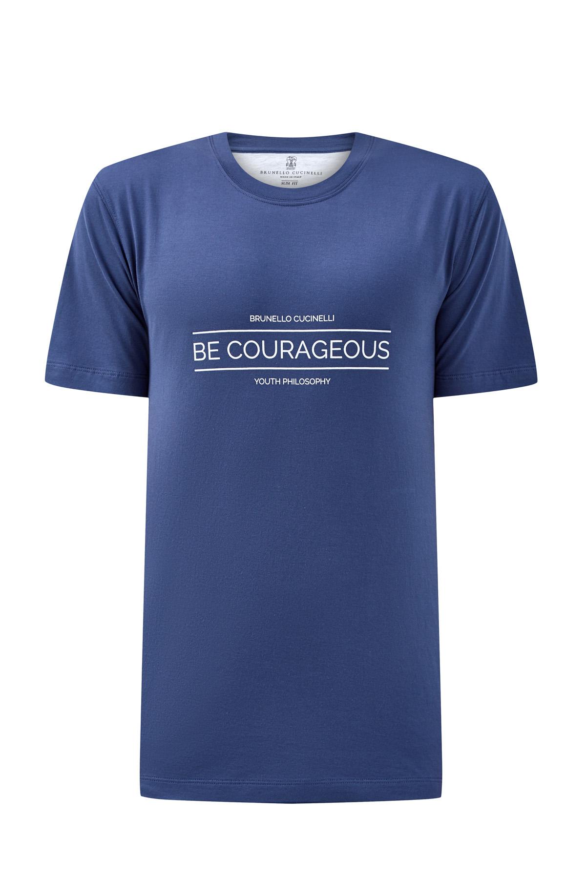 Футболка из джерси с принтом Be Courageous фото