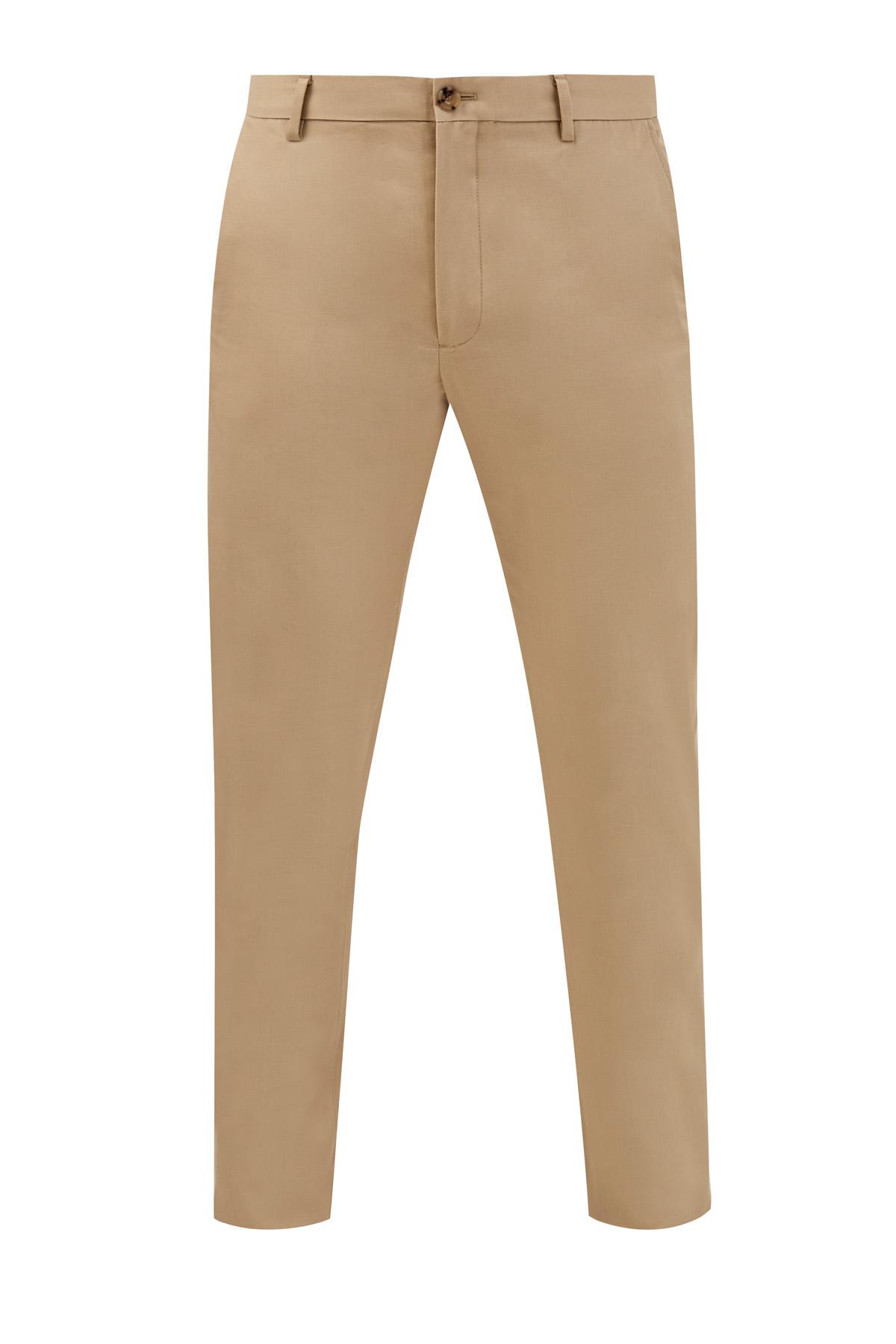 Хлопковые брюки-чинос с пуговицами из рога буйвола фото