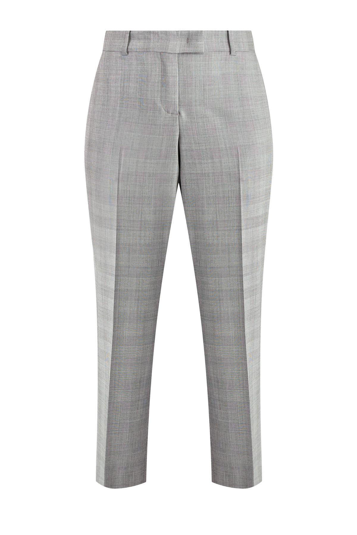 Купить Классические брюки из шерстяной ткани с принтом «Принц Уэльский», ERMANNO SCERVINO, Италия, шерсть 100%