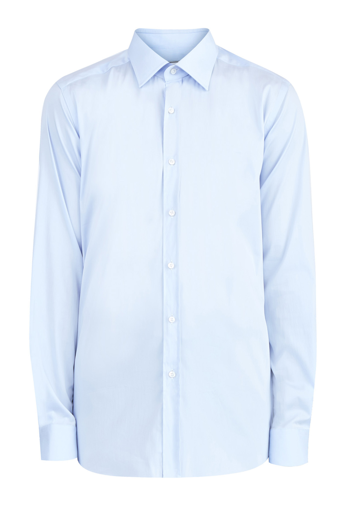 Классическая рубашка из эластичного поплина Albini