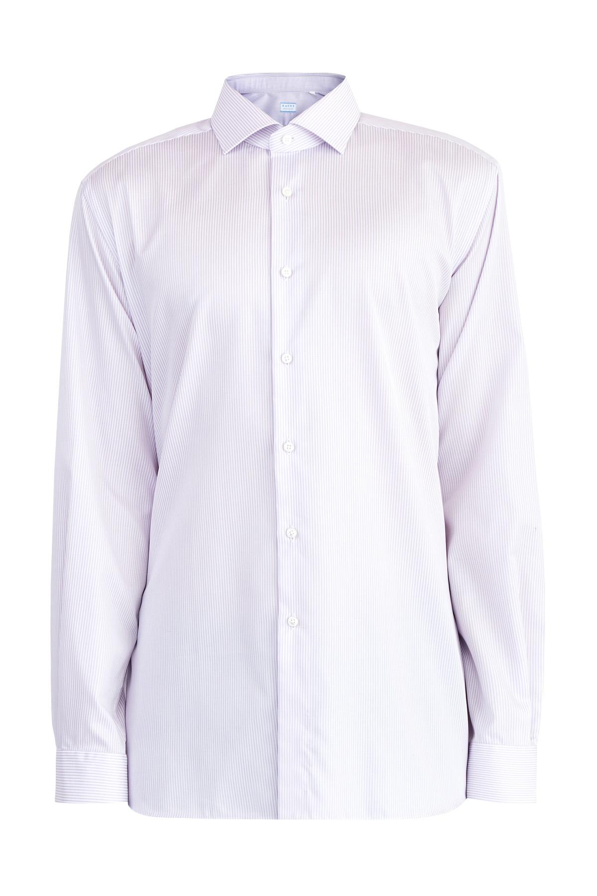 Рубашка кроя Evolution из хлопка Wrinkle Free с принтом в полоску