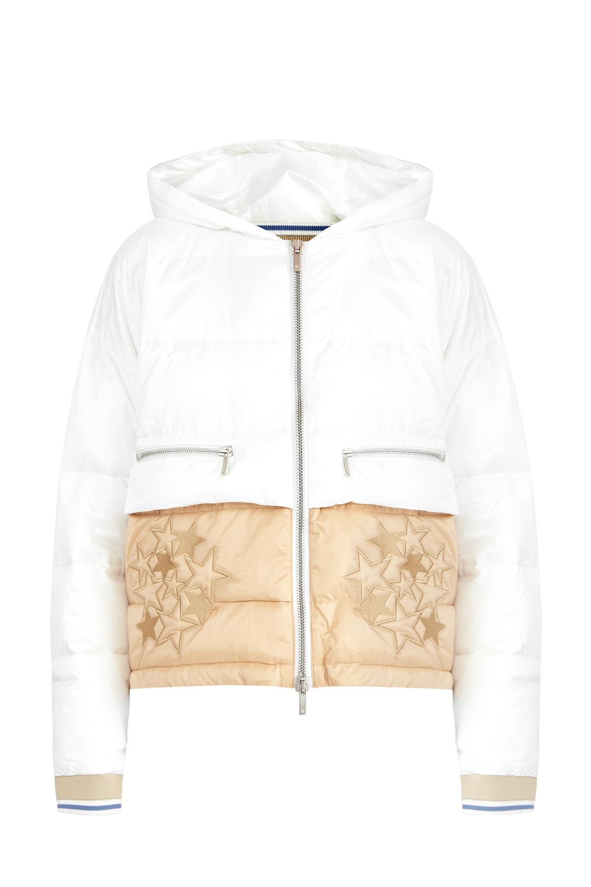 Купить со скидкой Куртка в стиле colorblock из легкого нейлона