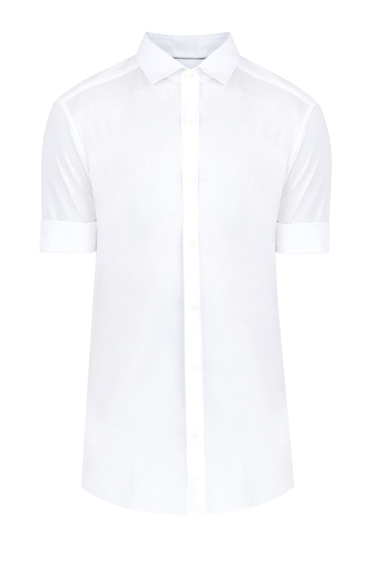 Рубашка с короткими рукавами из хлопкового джерси